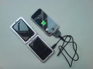 chargeur solaire en action