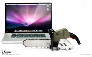 iSaw, la tronçonneuse USB pour Bûcheron geek